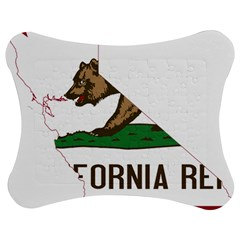 California Flag Map Jigsaw Puzzle Photo Stand (bow) by abbeyz71