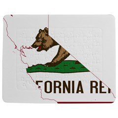 California Flag Map Jigsaw Puzzle Photo Stand (rectangular) by abbeyz71