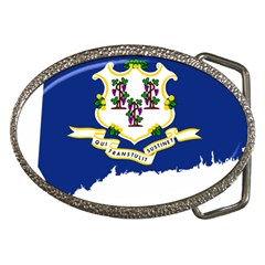 Flag Map Of Connecticut Belt Buckles by abbeyz71