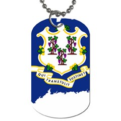 Flag Map Of Connecticut Dog Tag (two Sides) by abbeyz71