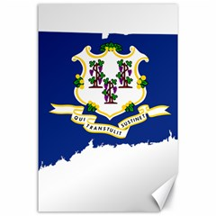 Flag Map Of Connecticut Canvas 24  X 36  by abbeyz71