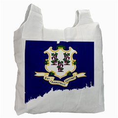 Flag Map Of Connecticut Recycle Bag (two Side) by abbeyz71
