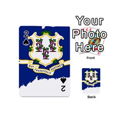 Flag Map Of Connecticut Playing Cards 54 (mini) by abbeyz71