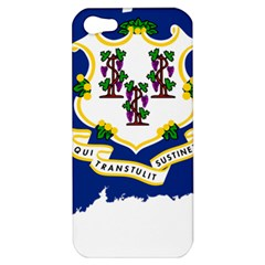 Flag Map Of Connecticut Apple Iphone 5 Hardshell Case by abbeyz71