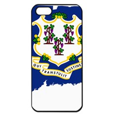 Flag Map Of Connecticut Apple Iphone 5 Seamless Case (black) by abbeyz71