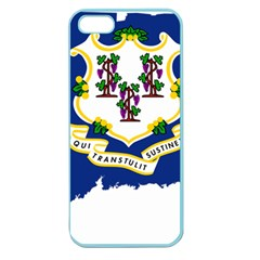Flag Map Of Connecticut Apple Seamless Iphone 5 Case (color) by abbeyz71