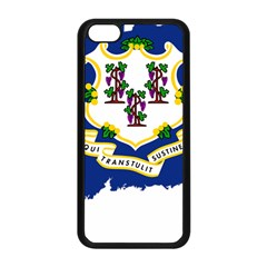 Flag Map Of Connecticut Apple Iphone 5c Seamless Case (black) by abbeyz71