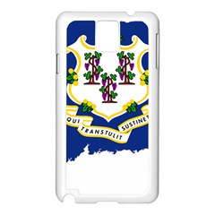 Flag Map Of Connecticut Samsung Galaxy Note 3 N9005 Case (white) by abbeyz71