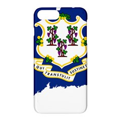 Flag Map Of Connecticut Apple Iphone 7 Plus Hardshell Case by abbeyz71