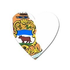 Flag Map Of Delaware Heart Magnet by abbeyz71