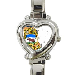 Flag Map Of Delaware Heart Italian Charm Watch by abbeyz71
