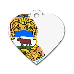 Flag Map Of Delaware Dog Tag Heart (one Side) by abbeyz71