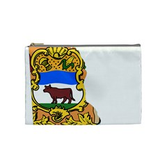 Flag Map Of Delaware Cosmetic Bag (medium) by abbeyz71