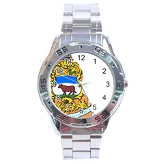 Flag Map Of Delaware Stainless Steel Analogue Watch by abbeyz71