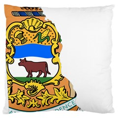 Flag Map Of Delaware Large Cushion Case (two Sides) by abbeyz71