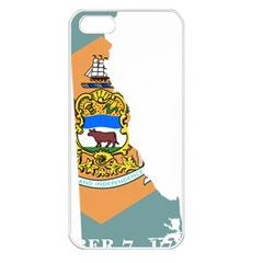 Flag Map Of Delaware Apple Iphone 5 Seamless Case (white) by abbeyz71