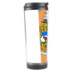 Flag Map Of Delaware Travel Tumbler by abbeyz71