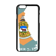 Flag Map Of Delaware Apple Iphone 6/6s Black Enamel Case by abbeyz71