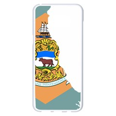 Flag Map Of Delaware Samsung Galaxy S8 Plus White Seamless Case by abbeyz71