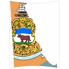 Flag Map Of Delaware Back Support Cushion by abbeyz71