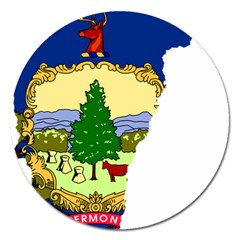 Flag Map Of Vermont Magnet 5  (round) by abbeyz71