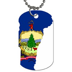 Flag Map Of Vermont Dog Tag (two Sides) by abbeyz71