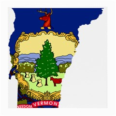 Flag Map Of Vermont Medium Glasses Cloth (2 Side) by abbeyz71