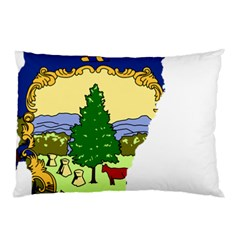 Flag Map Of Vermont Pillow Case by abbeyz71