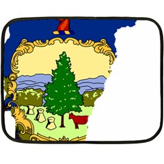 Flag Map Of Vermont Double Sided Fleece Blanket (mini)  by abbeyz71