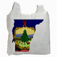 Flag Map Of Vermont Recycle Bag (one Side) by abbeyz71