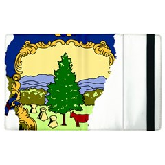 Flag Map Of Vermont Apple Ipad 3/4 Flip Case by abbeyz71