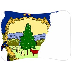 Flag Map Of Vermont Velour Seat Head Rest Cushion