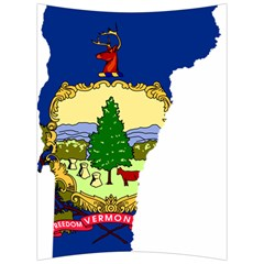 Flag Map Of Vermont Back Support Cushion