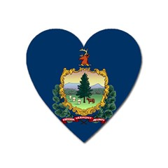 Flag Of Vermont Heart Magnet by abbeyz71