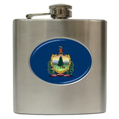 Flag Of Vermont Hip Flask (6 Oz) by abbeyz71