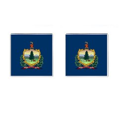 Flag Of Vermont Cufflinks (square) by abbeyz71