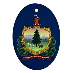 Flag Of Vermont Oval Ornament (two Sides) by abbeyz71