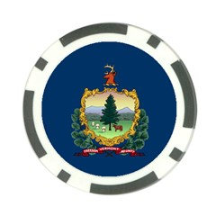 Flag Of Vermont Poker Chip Card Guard by abbeyz71
