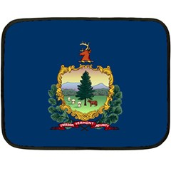 Flag Of Vermont Double Sided Fleece Blanket (mini)  by abbeyz71