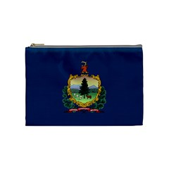 Flag Of Vermont Cosmetic Bag (medium) by abbeyz71