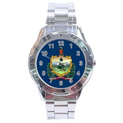 Flag Of Vermont Stainless Steel Analogue Watch by abbeyz71