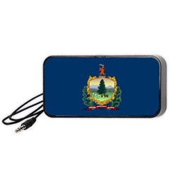 Flag Of Vermont Portable Speaker by abbeyz71