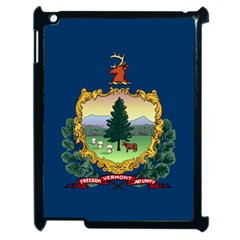 Flag Of Vermont Apple Ipad 2 Case (black) by abbeyz71