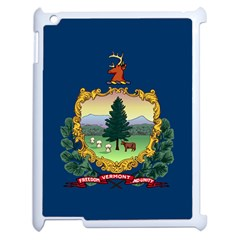 Flag Of Vermont Apple Ipad 2 Case (white) by abbeyz71