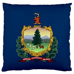 Flag Of Vermont Large Cushion Case (two Sides) by abbeyz71