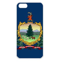 Flag Of Vermont Apple Iphone 5 Seamless Case (white) by abbeyz71