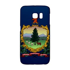 Flag Of Vermont Samsung Galaxy S6 Edge Hardshell Case by abbeyz71