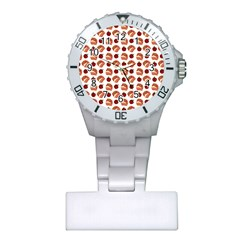 Pasta Pattern Plastic Nurses Watch by snowwhitegirl