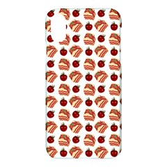 Pasta Pattern Apple Iphone X Hardshell Case by snowwhitegirl