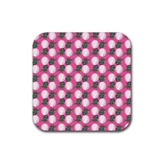 Pink Bride Rubber Coaster (square)  by snowwhitegirl